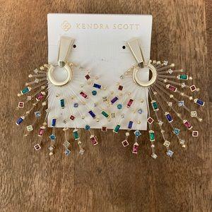 Kendra Scott 'Fabia' Earring Gold/Jewel-Tone Mix